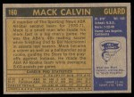 1971 Topps #160  Mack Calvin  Back Thumbnail