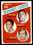 1971 Topps #150   -  Mel Daniels / Mike Lewis / Julius Keye ABA Rebounds Leaders Front Thumbnail