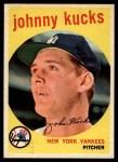 1959 Topps #289  Johnny Kucks  Front Thumbnail