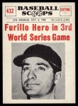 1961 Nu-Card Scoops #432   -   Carl Furillo  Furillo Hero As Dodgers Beat Chicago Front Thumbnail