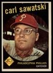 1959 Topps #56  Carl Sawatski  Front Thumbnail