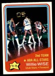 1972 Topps #254   -  Willie Wise  ABA All-Star - 2nd Team Front Thumbnail