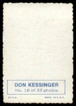 1969 Topps Deckle Edge #18  Don Kessinger    Back Thumbnail