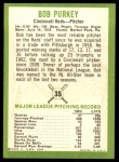 1963 Fleer #35  Bob Purkey  Back Thumbnail