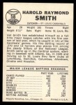 1960 Leaf #58 COR Hal R. Smith  Back Thumbnail