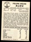 1960 Leaf #6  Felipe Alou  Back Thumbnail