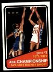 1972 Topps #243   ABA Championship Game #3 Front Thumbnail