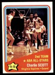 1972 Topps #258   -  Charlie Scott  ABA All-Star - 2nd Team Front Thumbnail