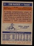 1972 Topps #84  Stan McKenzie   Back Thumbnail