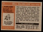1972 Topps #77  Bill MacMillan  Back Thumbnail