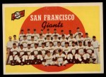 1959 Topps #69   Giants Team Checklist Front Thumbnail