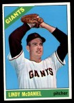 1966 Topps #496  Lindy McDaniel  Front Thumbnail