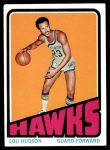 1972 Topps #130  Lou Hudson   Front Thumbnail