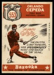 1959 Topps #553   -  Orlando Cepeda All-Star Back Thumbnail