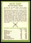 1963 Fleer #26  Ralph Terry  Back Thumbnail