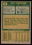 1971 Topps #25  Pat Stapleton  Back Thumbnail