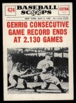 1961 Nu-Card Scoops #424   -   Lou Gehrig  Gehrig Consecutive Game Record Ends Front Thumbnail