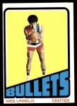 1972 Topps #21  Wes Unseld   Front Thumbnail