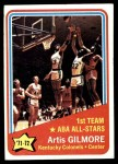 1972 Topps #251   -  Artis Gilmore  ABA All-Star - 1st Team Front Thumbnail