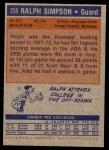1972 Topps #235  Ralph Sampson   Back Thumbnail