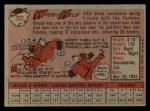 1958 Topps #202  Woodie Held  Back Thumbnail