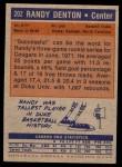 1972 Topps #202  Randy Denton   Back Thumbnail