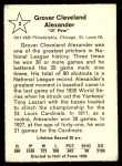 1961 Golden Press #2  Grover Alexander  Back Thumbnail