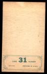 1965 Topps Embossed #31   Leon Wagner   Back Thumbnail