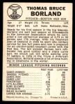 1960 Leaf #26  Tom Borland  Back Thumbnail