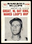 1961 Nu-Card Scoops #413   -   Dick Groat  Groat, NL Bat King, Named Loop's MVP Front Thumbnail