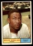 1961 Topps #15  Willie Kirkland  Front Thumbnail