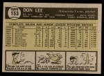 1961 Topps #153  Don Lee  Back Thumbnail