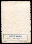 1969 Topps Deckle Edge #21  Pete Rose  Back Thumbnail