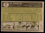 1961 Topps #6  Ed Roebuck  Back Thumbnail