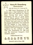 1961 Golden Press #4  Hank Greenberg  Back Thumbnail