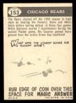 1959 Topps #153   Bears Team Checklist Back Thumbnail