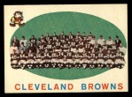1959 Topps #161   Browns Team Checklist Front Thumbnail