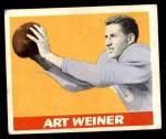 1948 Leaf #58  Art Weiner  Front Thumbnail