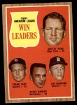 1962 Topps #57   -  Whitey Ford / Jim Bunning / Frank Lary / Steve Barber AL Win Leaders Front Thumbnail
