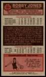 1976 Topps #144  Bobby Jones  Back Thumbnail