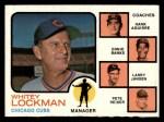 1973 Topps #81 SOL  -  Whitey Lockman / Hank Aguirre / Ernie Banks / Larry Jansen / Pete Resier Cubs Leaders Front Thumbnail