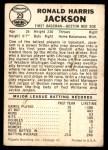 1960 Leaf #29  Ron Jackson  Back Thumbnail
