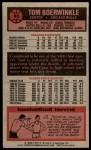 1976 Topps #85  Tom Boerwinkle  Back Thumbnail