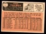 1966 Topps #403  Fred Talbot  Back Thumbnail