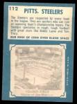 1961 Topps #112   Steelers Team Back Thumbnail