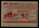 1958 Topps #277  Virgil Trucks  Back Thumbnail