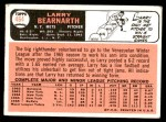 1966 Topps #464  Larry Bearnarth  Back Thumbnail