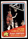 1972 Topps #257   -  Ralph Simpson  ABA All-Star - 2nd Team Front Thumbnail
