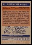 1972 Topps #90  Austin Carr   Back Thumbnail