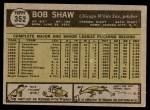 1961 Topps #352  Bob Shaw  Back Thumbnail